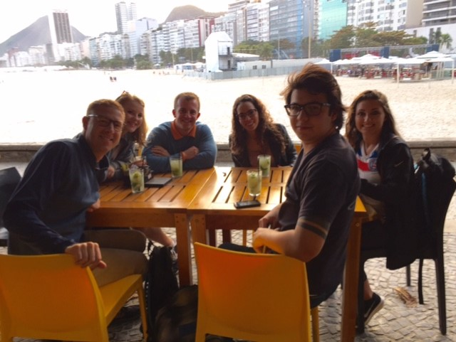 rio-american runners enjoying drinks